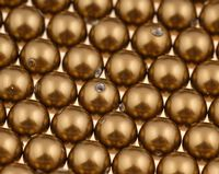 6mm SWAROVSKI® ELEMENTS Anitque Brass Crystal Pearl Beads - 50 pearls for jewellery making, beadwork and craft